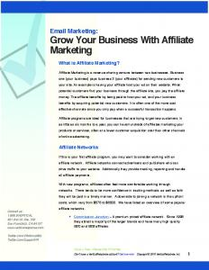 Grow Your Business With Affiliate Marketing - VerticalResponse