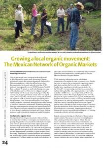growing a local organic movement: The Mexican Network of Organic ...