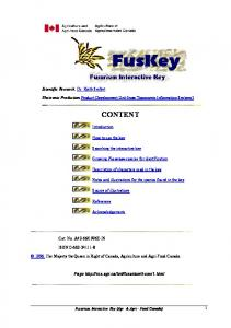growing fusarium species for identification