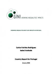 Growing Inequalities and their Impacts in Portugal