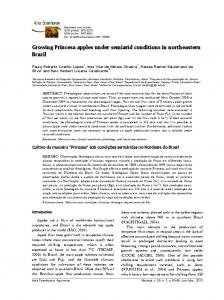 Growing Princesa apples under semiarid conditions in ... - SciELO