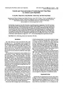 Growth and Characterization of Conducting ZnO Thin ...