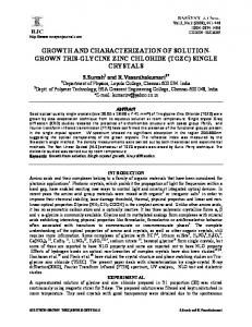 growth and characterization of solution- grown tris-glycine zinc chloride