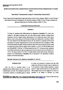 GROWTH AND EXOPOLYSACCHARIDE PRODUCTION ... - CiteSeerX