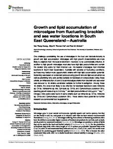 Growth and lipid accumulation of microalgae from ... - Semantic Scholar