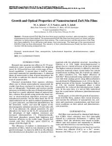 Growth and optical properties of nanostructured ZnS: Mn films