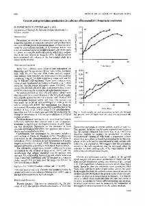 Growth and peroxidase production in cultures of horseradish ...