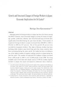 Growth and Structural Changes of Foreign Workers in Japan ...