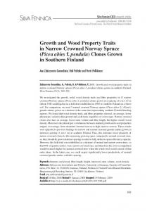 Growth and wood property traits in narrow crowned Norway spruce ...