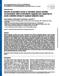 Growth at elevated ozone or elevated carbon dioxide