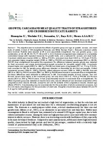 growth, carcass and meat quality traits of straightbred ... - RiuNet - UPV