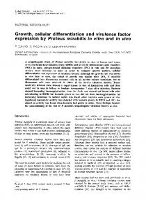 Growth, cellular differentiation and virulence factor ... - CiteSeerX