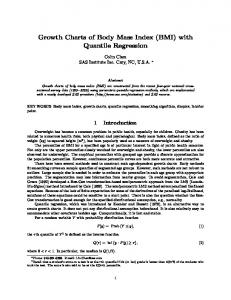 Growth Charts of Body Mass Index (BMI) with Quantile ... - SAS