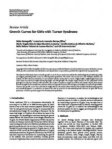 Growth Curves for Girls with Turner Syndrome