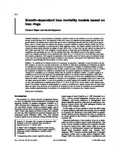 Growth-dependent tree mortality models based on tree rings