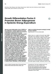 Growth Differentiation Factor-5 Promotes Brown ... - Diabetes