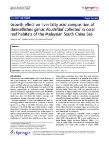 Growth effect on liver fatty acid composition of ... - Springer Link