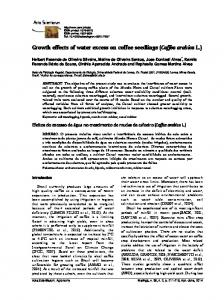Growth effects of water excess on coffee seedlings
