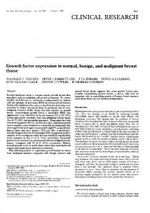 Growth factor expression in normal, benign, and ... - Europe PMC