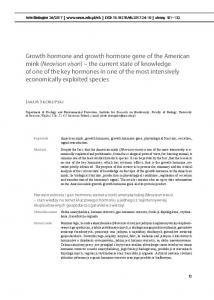 Growth hormone and growth hormone gene of the ...