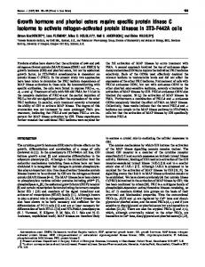 Growth hormone and phorbol esters require specific protein kinase C ...