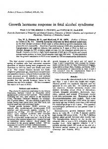 Growth hormone response in fetal alcohol syndrome
