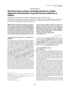 Growth hormone variants