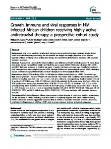 Growth, immune and viral responses in HIV ... - Semantic Scholar