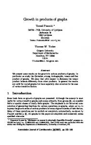 Growth in products of graphs - The Australasian Journal of ...