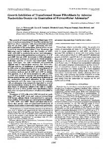 Growth Inhibition of Transformed Mouse Fibroblasts by Adenine ...