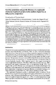 Growth, metabolism and growth efficiency of a ... - Oxford Journals