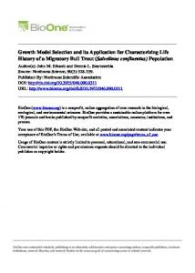 Growth Model Selection and its Application for ... - Semantic Scholar