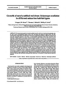 Growth of newly settled red drum Sciaenops ocellatus in different ...