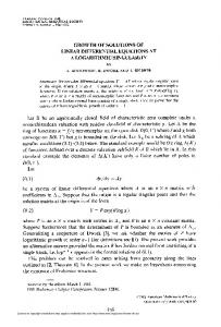 GROWTH OF SOLUTIONS OF LINEAR DIFFERENTIAL EQUATIONS