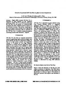Growth of sputtered AlN thin film on glass in room temperature
