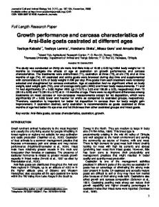Growth performance and carcass characteristics ... - Academic Journals