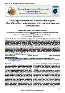 Growth performance and mineral status on goats