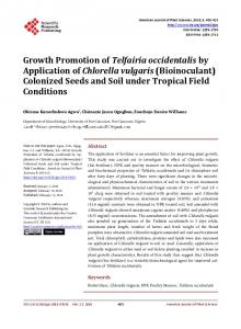 Growth Promotion of Telfairia occidentalis by