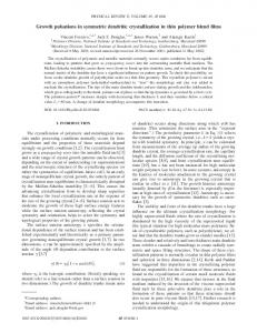 Growth pulsations in symmetric dendritic ... - APS Link Manager