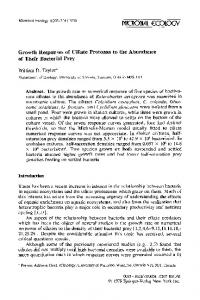 Growth responses of ciliate protozoa to the abundance ... - Springer Link