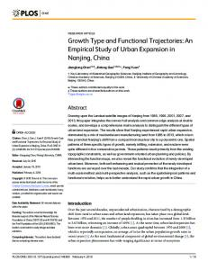 Growth Type and Functional Trajectories: An Empirical Study ... - PLOS