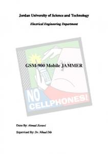 GSM-900 Mobile JAMMER