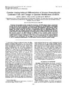 Guanine Analog-Induced Differentiation of Human ... - Europe PMC