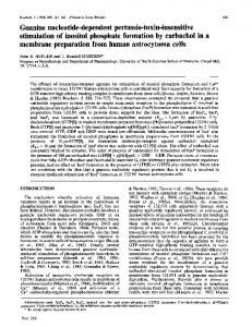 Guanine nucleotide-dependent pertussis-toxin ... - Europe PMC