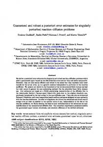 Guaranteed and robust a posteriori error estimates for singularly ...