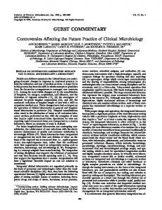 guest commentary - Journal of Clinical Microbiology - American ...