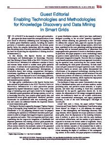 Guest Editorial Enabling Technologies and ... - IEEE Xplore