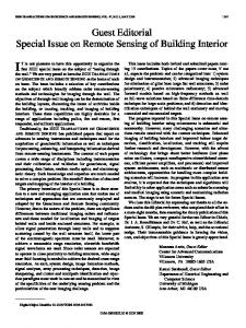 Guest Editorial Special Issue on Remote Sensing of ... - IEEE Xplore