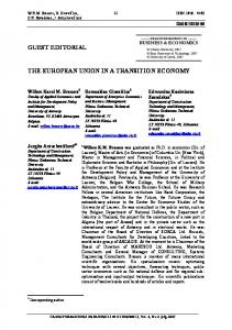 guest editorial the european union in a transition economy