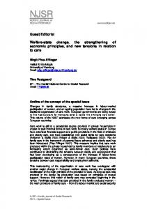 Guest Editorial Welfare-state change, the strengthening of economic ...